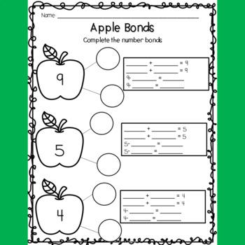 Apple Whole Group & Center Math/Literacy activities