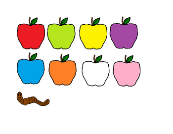 Apple & Wiggly Worm FREEBIE Color Activity