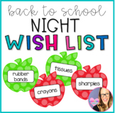 Apple Wish List for Back to School Night- Polka Dot
