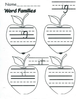 Apple Word Families