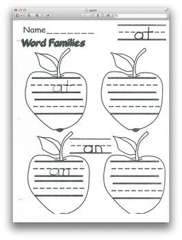 Apple Word Families