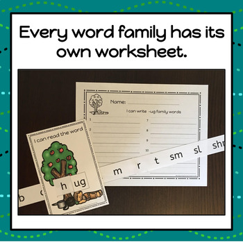 Apple Word Family Slide and Write - S