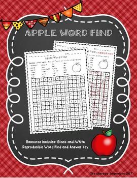 Apple Word Find