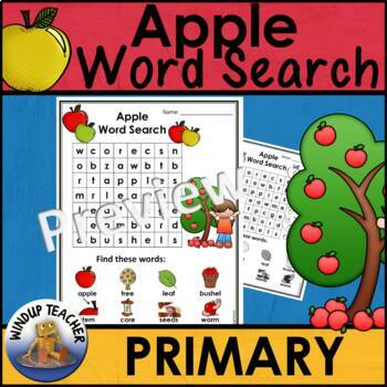 Apple Word Search *Easy for Primary
