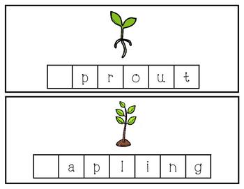 Apple Word Tile Cards