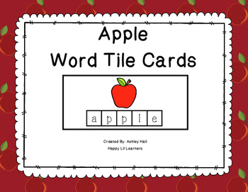 Apple Word Tile Cards