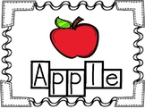 Apple Word Tracers Thematic Unit