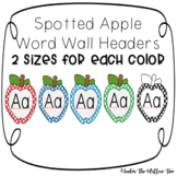 Apple Word Wall Alphabet Headers - Printable