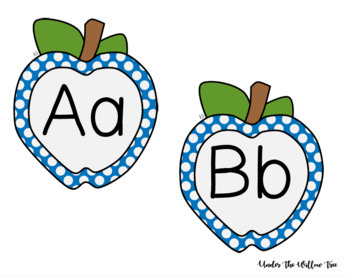 Apple Word Wall Alphabet Headers - Printable