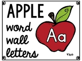 Apple Word Wall Alphabet Letters