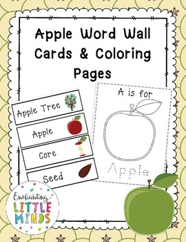 Apple Word Wall Cards & Coloring Pages