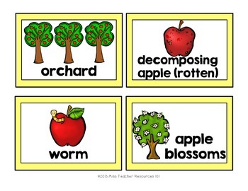 Apple Words - Word Wall Cards {Seasonal Word Wall Cards SAMPLE}