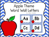 Apple Word Wall Letters