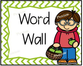 Apple Word Wall Set