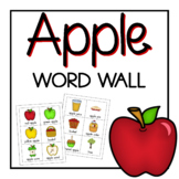 Apple Word Wall - Vocabulary and Activities