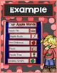 Apple Word Wall and Web Chart Cards