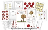 Apple Word Work and Writing Activities