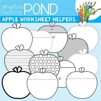 Apple Worksheet Helper Clipart