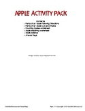 Apple Worksheets and Activities
