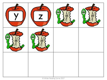 Apple Worm Alphabet Game- Learn and Practice Letters and Sounds- EASY PREP