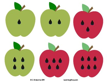 Apple & Worm Match: numbers 1 -12