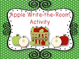 Apple Write the Room Activity with Pre Primer Sight Words