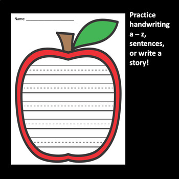 Apple Writing Freebie
