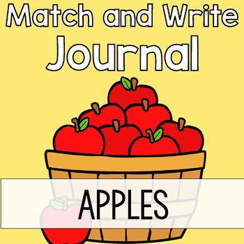 Apple Writing Journal: Match & Write