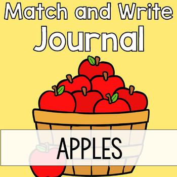 Apple Writing Journal: Match & Write