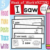 Apple Writing Mini Book {Week of Writing Daily Task Booklet}