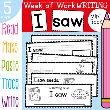 Apple Writing Mini Book {Week of Writing Daily Task Booklet}