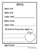 Apple Writing Observations FREEBIE