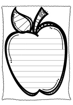Apple Writing Page (Wide Spaced)