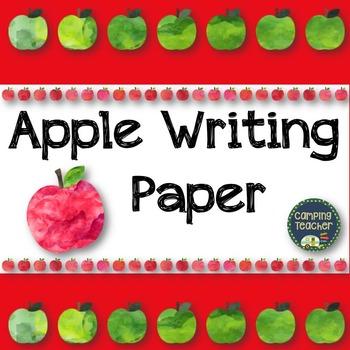 Apple Writing Paper FREEBIE!
