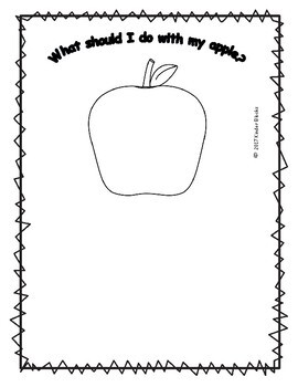 Apple Writing Prompts for Pre-K, Kindergarten, or First Grade