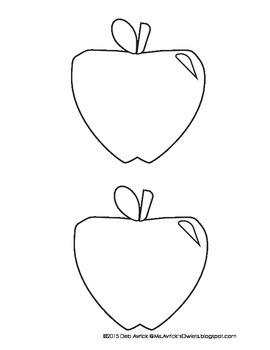 Apple Writing Template