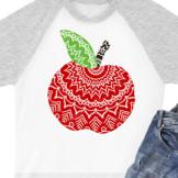 Apple Zentangle art Mandala svg