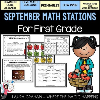 September Math Stations for First Grade