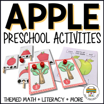 Apple Activities for Pre-K, Preschool and Tots