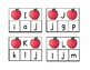 Apple alphabet clip cards