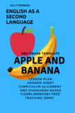 Apple and Banana: Letters A and B : Jolly Phonics Sounds D