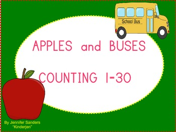 Apple and Buses Counting 1 - 30