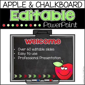 Apple and Chalkboard Back to School PowerPoint