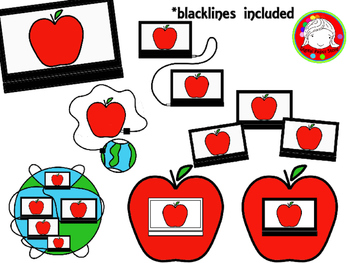 Digital Learning Clipart (Personal & Commercial Use)