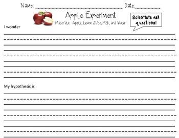 Apple and Lemon Juice Experiment