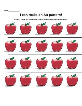 Apple and Pumpkin AB Pattern