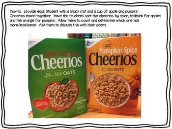 Apple and Pumpkin Math Snack Mat
