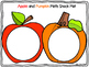 Apple and Pumpkin Math Snack Mat