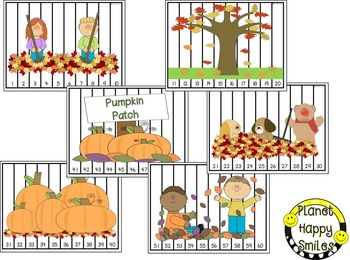 Number Puzzles for Fall:  Apples and Pumpkins