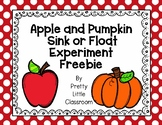 Apple and Pumpkin Sink Or Float FREEBIE